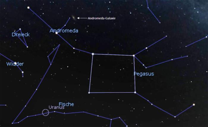 Herbstviereck im Sternbild Pegasus