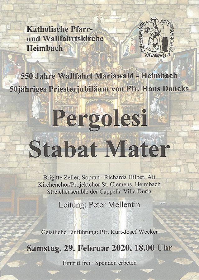 Plakat Pergolesi - Stabat Mater